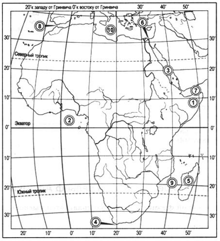 Параграф 20. Географическое положение Африки.
